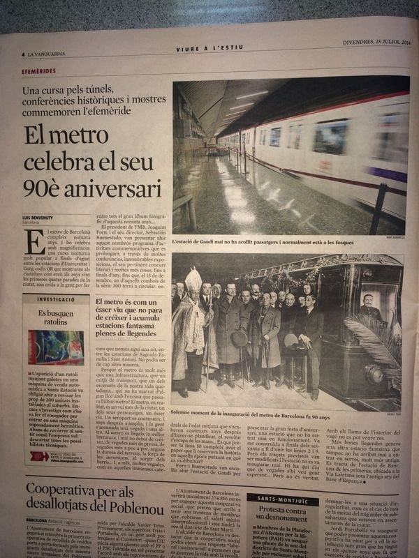 Inauguració del Metro de Barcelona